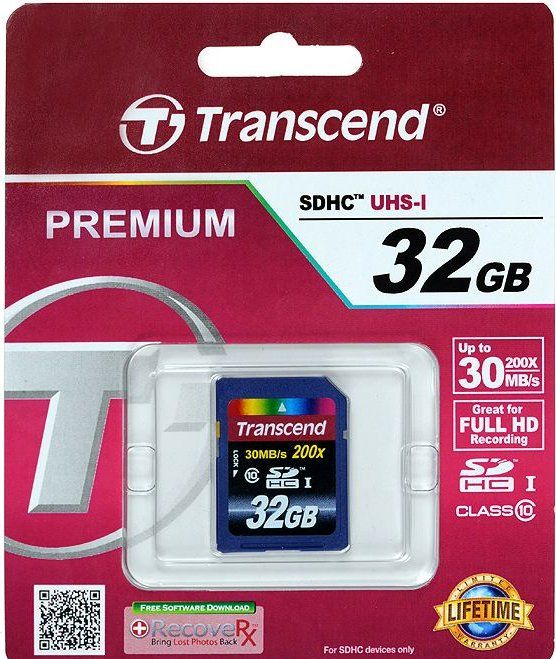 Transcend SDHC 32GB Class 10, TS32GSDHC10